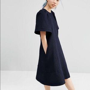 ASOS WHITE wide sleeve midi dress